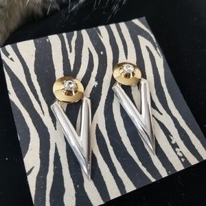 Standout Vintage 80's Retro Statement Earrings